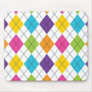 Buntes Regenbogen-Rauten-Diamant-Muster-jugendlich Mousepad