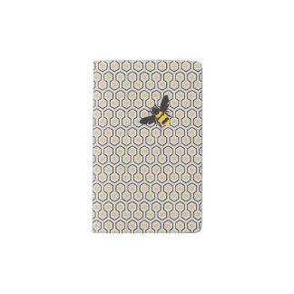 Buntes Retro Bienenwaben-Gitterfeld Moleskine Taschennotizbuch