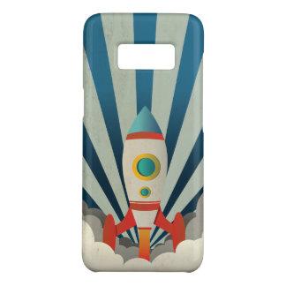 Buntes Rocket mit blauen Strahlen und weißem Case-Mate Samsung Galaxy S8 Hülle