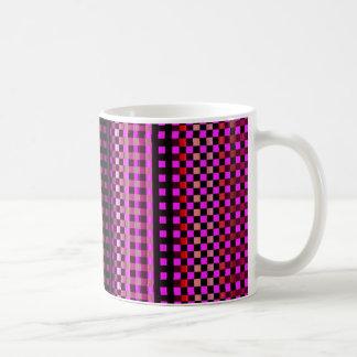 Buntes rosa abstraktes Neonmuster Kaffeetasse