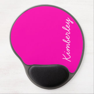 Buntes rosa Neonmonogramm-modische Mode-Farben Gel Mouse Matten