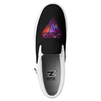 buntes rosa Schwarzes des eleganten modernen Slip-On Sneaker