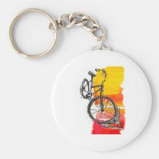 Buntes rotes Fahrrad Schlüsselanhänger