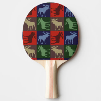 Buntes rustikales Elchquadrat-Klingeln pong Paddel Tischtennis Schläger