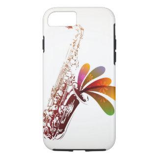 Buntes Saxophon iPhone 8/7 Hülle