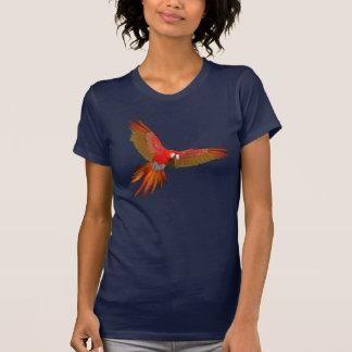 Buntes Scharlachrot Macawfliegen-Kunst T-Shirt