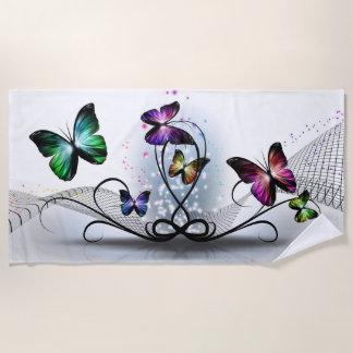 Buntes Schmetterlings-Badetuch Strandtuch