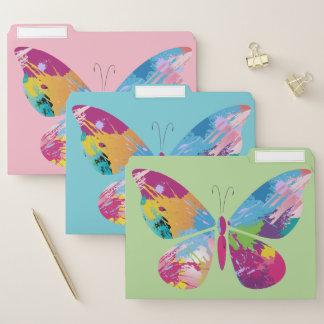 Buntes Schmetterlings-Entwurfs-Datei-Ordner-Set Papiermappe