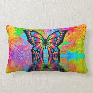 Buntes Schmetterlings-Kissen Lendenkissen