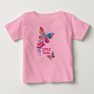 Buntes Schmetterlings-KLEINE Schwester-Shirt Baby T-shirt