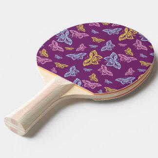 Buntes Schmetterlings-Muster Tischtennis Schläger