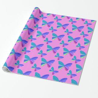 Buntes Schmetterlings-Packpapier Geschenkpapier