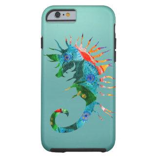 Buntes Seepferd-Kunst iPhone 6/6s, stark Tough iPhone 6 Hülle