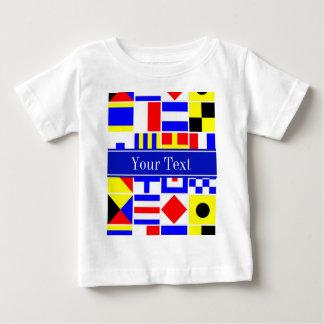 Buntes Seesignal-Flaggen-königliches Baby T-shirt