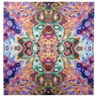 Buntes Spiegel-Bild abstrakt Serviette