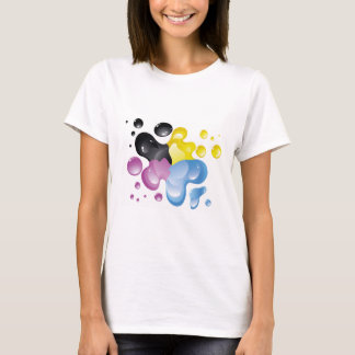 Buntes Spritzen-Shirt T-Shirt