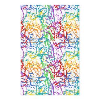 Buntes Spritzer-Farben-Muster Individuelle Büropapiere