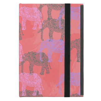 buntes Stammes- Blumenelefantmuster Schutzhülle Fürs iPad Mini