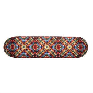 Buntes Stammes- Motiv Bedrucktes Skateboard