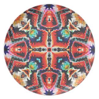Buntes Stammes- Muster Teller