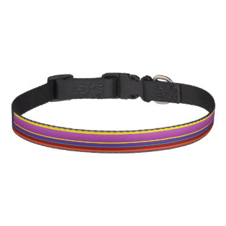 Buntes Streifen-Hundehalsband Hundehalsbänder