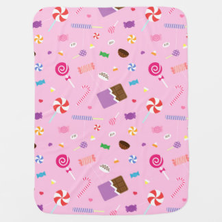 Buntes süßes Süßigkeits-Rosa-Muster für Babys Puckdecke