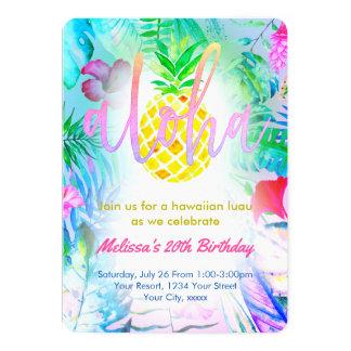 buntes tropisches Geburtstags-Party Karte