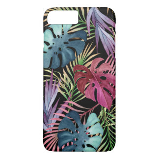 Buntes tropisches Laub-botanisches Muster iPhone 8 Plus/7 Plus Hülle