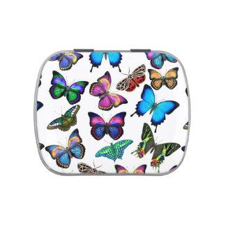 Buntes tropisches Schmetterlings-Süßigkeits-Zinn Jelly Belly Dosen