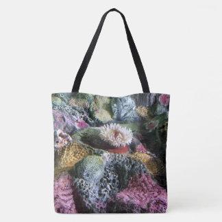 Buntes Unterwasseraquarium-Korallenriff Tasche