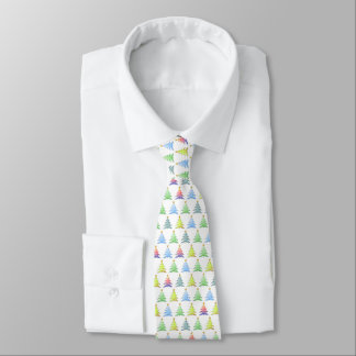 Buntes Weihnachtsbaum-Muster - Krawatte