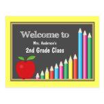Buntes Willkommen zurück zu Schule Postkarten