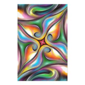 Buntes wirbeln weich gemischte Farben-Übergänge Briefpapier