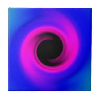 Buntes wirbelndes schwarzes Loch Fliese