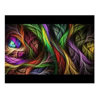Buntes Wolle-Effekt Muster Postkarte