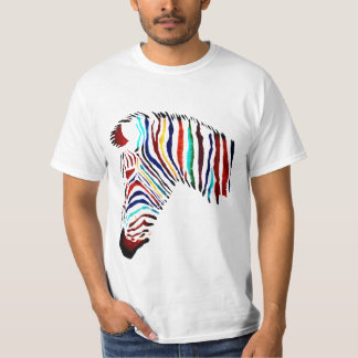 Buntes Zebra-Shirt T-Shirt