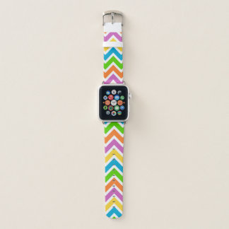 Buntes Zickzack Muster Apple Watch Armband