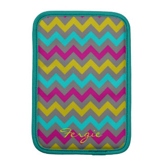 buntes Zickzack Muster personalisiert namentlich Sleeve Für iPad Mini