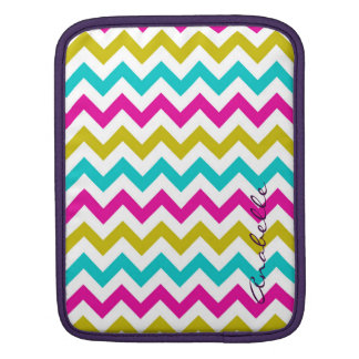buntes Zickzackmuster personalisiert namentlich Sleeve Für iPads