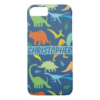 Buntes zu personifizieren Dinosaurier-Muster iPhone 8/7 Hülle