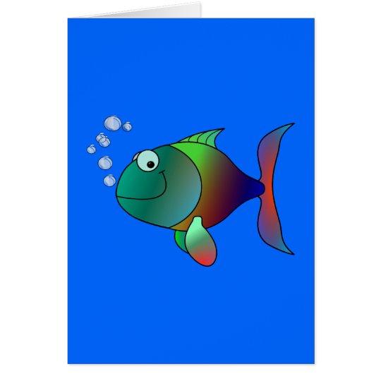 Buntfisch Fisch colorful fish Karte