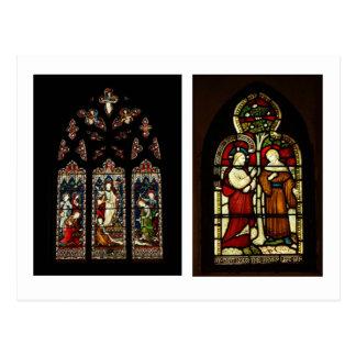 Buntglas an Rochester-Kathedrale Postkarten