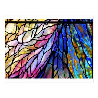 Buntglas durch Tiffany Postkarte