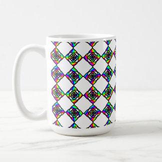 Buntglas-Effekt-Blumenmuster Kaffeetasse