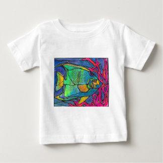 Buntglas-Engels-Fische Baby T-shirt