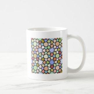 Buntglas-erdige Farbsternchen-Vereinbarung Kaffeetasse