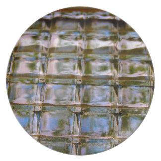 Buntglas-Fenster-Blöcke Melaminteller