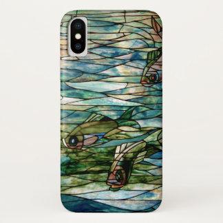 Buntglas Fisch-Tiffany-Bloß dort iPhone 5/5 iPhone X Hülle