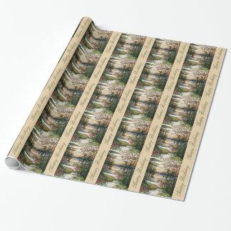 Buntglas-Geburtstags-Packpapier Geschenkpapier