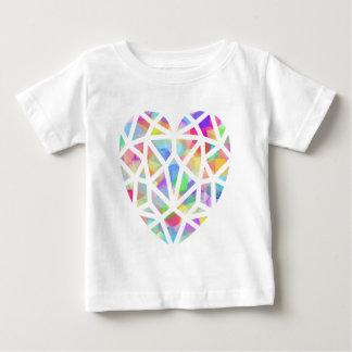 Buntglas-Herz Baby T-shirt